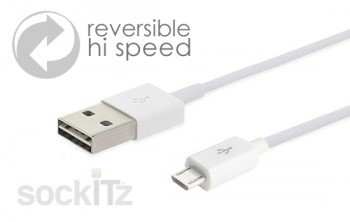 Reversible high speed micro charge cable
