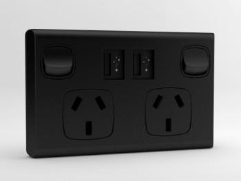 Classic sockITz Black USB powerpoint
