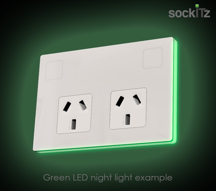 sockITz glass touch powepoint with night light