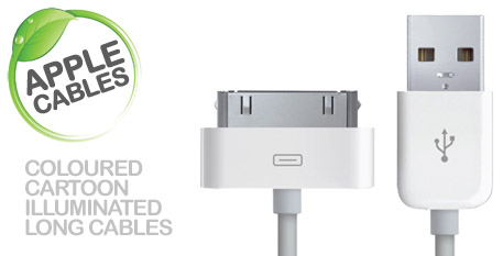 Apple USB charging cables