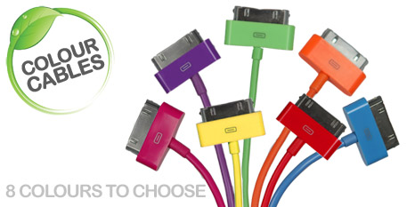 Coloured charge cables (Apple)