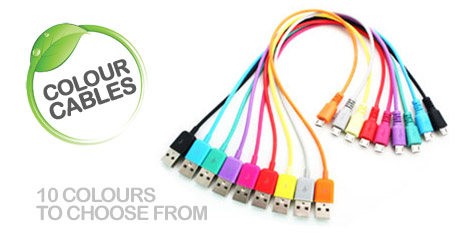 Coloured charge cables (Micro)