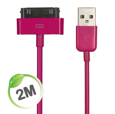 2 metre Apple charge/sync cable (Pink)