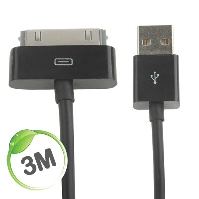 3 metre Apple charge/sync cable (black)