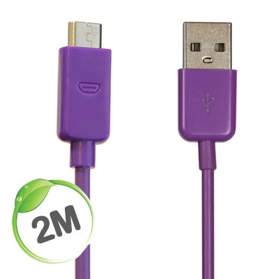2 metre Micro charge/sync cable (Purple)