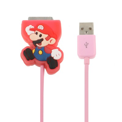 Mario Bros pink Apple Cable