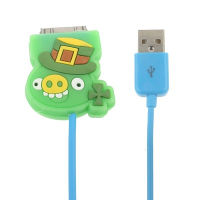 Angry Birds Pig cartoon blue Apple Cable