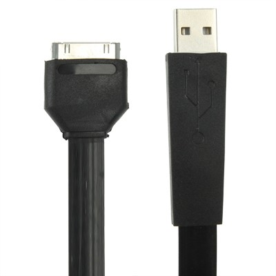 Ribbon style USB Apple charge/Sync cable (Black)