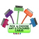 Pick & choose 5 colour apple cable pack