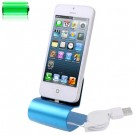 Aluminium iPhone 5 dock Blue