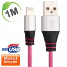 Pink metal Lightning charge cable