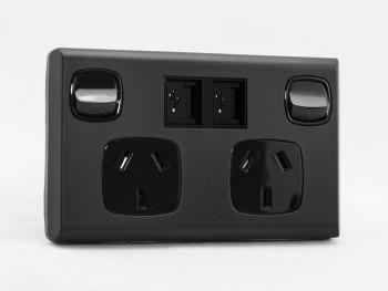 Classic sockITz Matte Black USB powerpoint